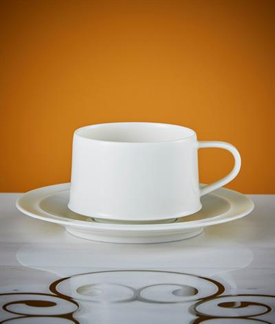 Signore Coffee Cup & Saucer in White